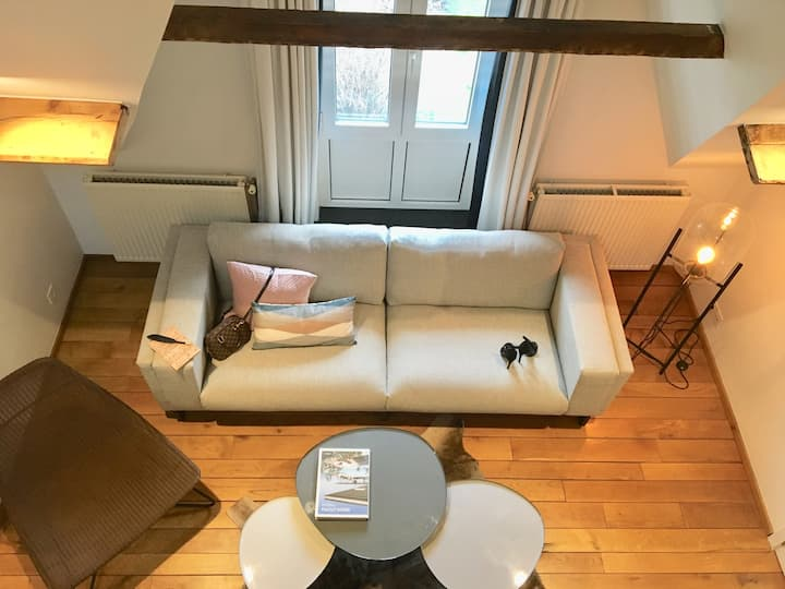 Design duplex city center appartement
