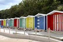 Beach Huts at Colwell Beach.