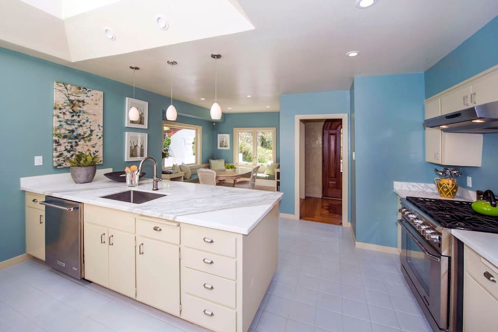 Large Kitchen with Breakfast Nook and Large Skylight