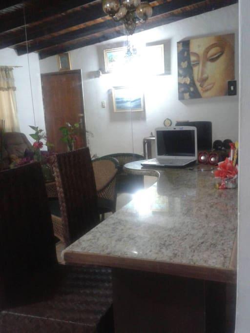 Área de sala comedor
