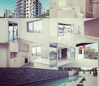 CBD brand new 1BR AP sleeps 4 (pool) - Larrakeyah - Lägenhet