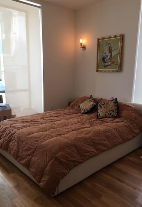 Airy bedroom. 2nd bedroom has 2 twin beds.