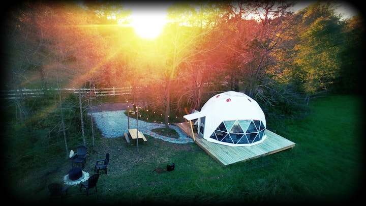 Suburban Dome Adventure -  Come Glamp With Us!