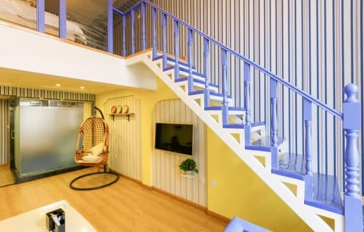 奥体 万达 桃仙机场 豪华复式loft双床家庭房