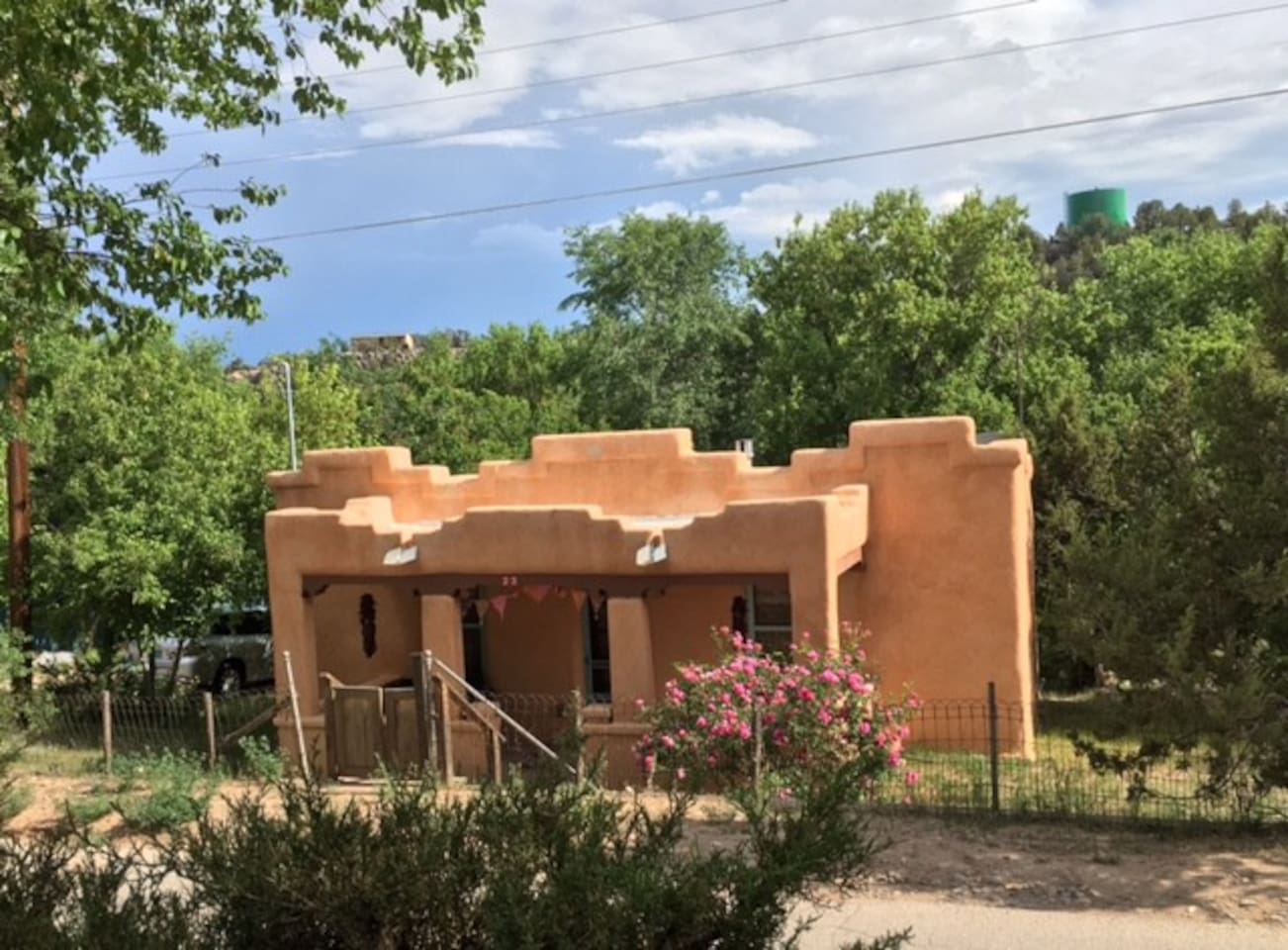 Casa Dulce has an adorable roof line befitting the 1936 custom adobe design.