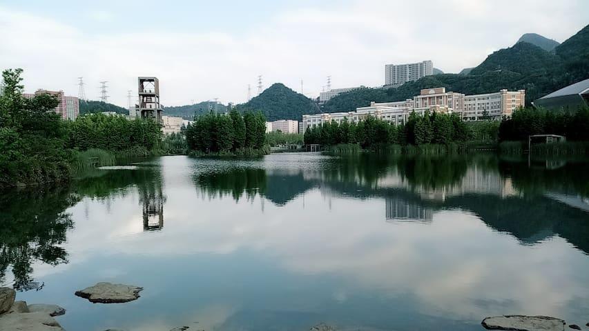 湿地公园【拾光者】观湖带机麻三居套房AAAAA