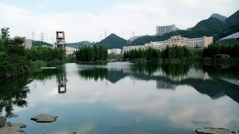 湿地公园【拾光民宿】观湖带机麻三居套房AAAAA