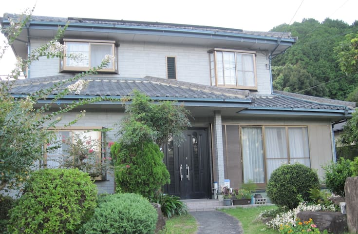 Outside view. Japanese typical single-family house. It takes about 5 minutes HTB JR station and my house by car. 我が家の外観