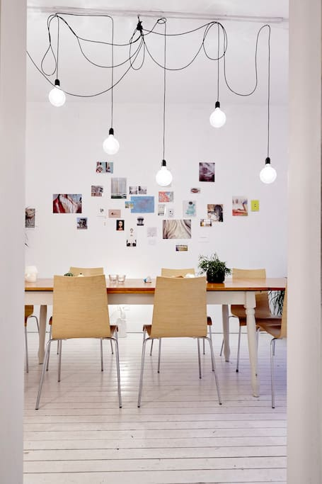 large table with 8 chairs