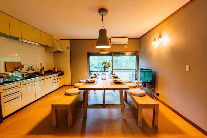 天然温泉 檜風呂の宿 / 一刻館 和モダンリビングと大和室の自然豊かな貸切お宿です - 蔵王山水苑