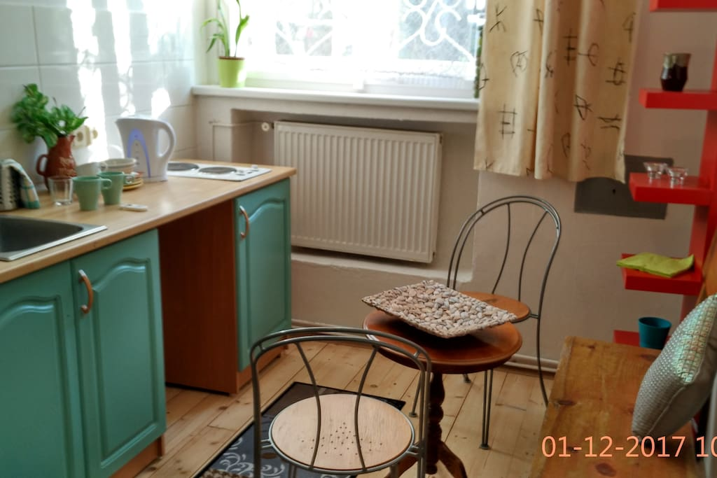 Cosy kitchenette and sitting area