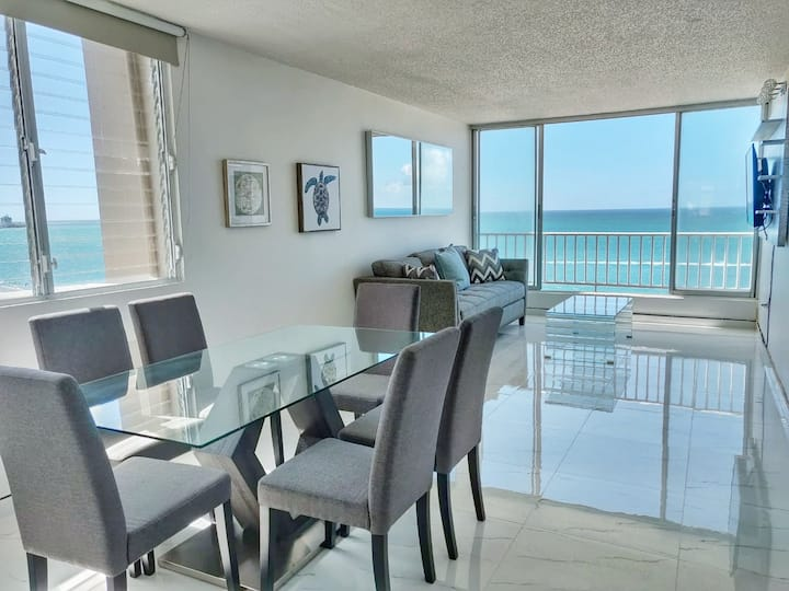 Oceanfront view apts for group from 6 to 16 guests