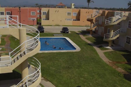 Cozy with pool 10min-car from beach - Acapulco - Apartment