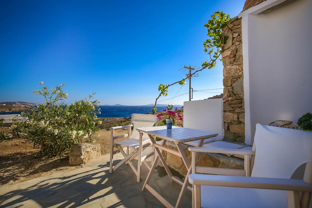 Enjoy the amazing sea view from the private veranda of the apartment. The private veranda.