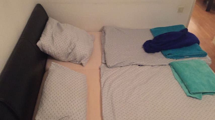 The large double bed, but only for you as my airbnb guest.