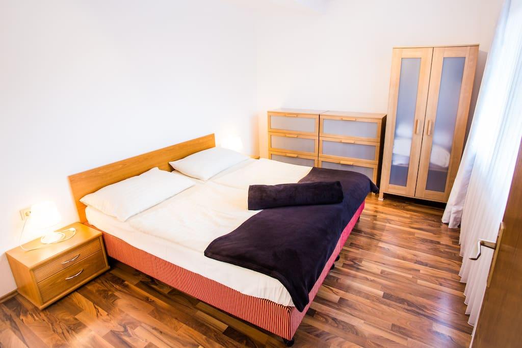 Apartment Kuckuck Schlafzimmer