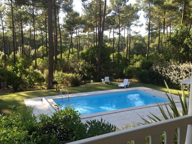 Villa avec piscine au milieu de la pinède - Lacanau
