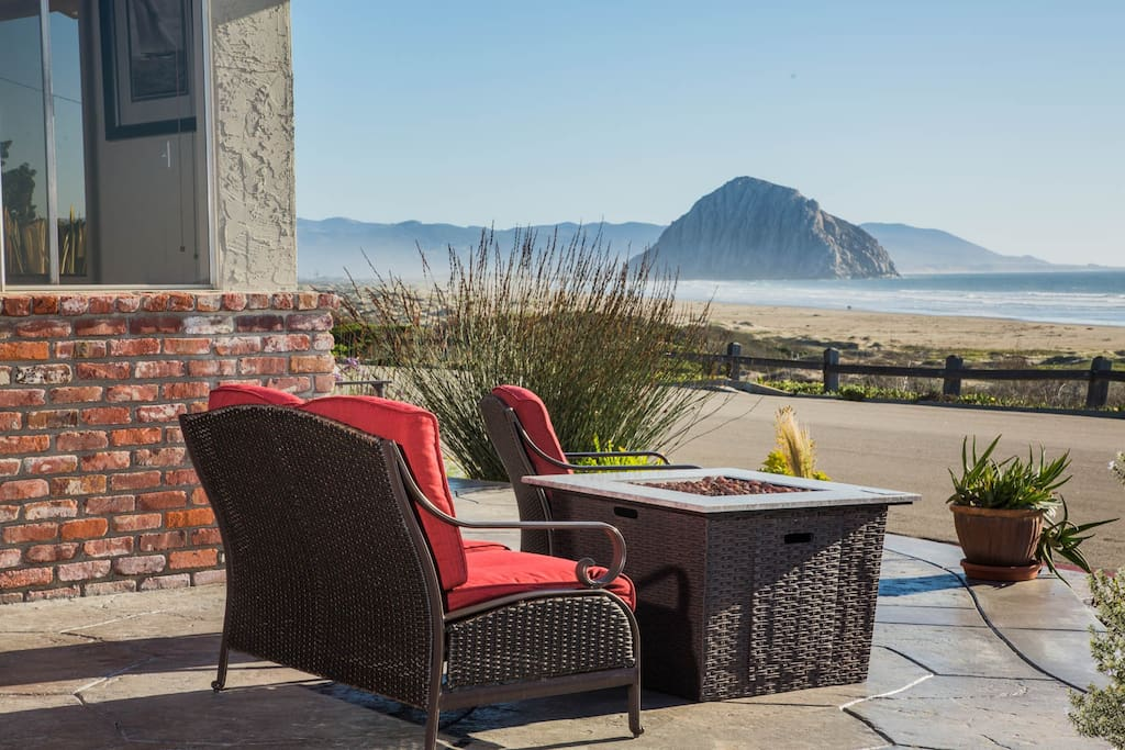 This home offers lots of comfy outdoor furniture plus a gas firepit. Grab your wine and enjoy the view