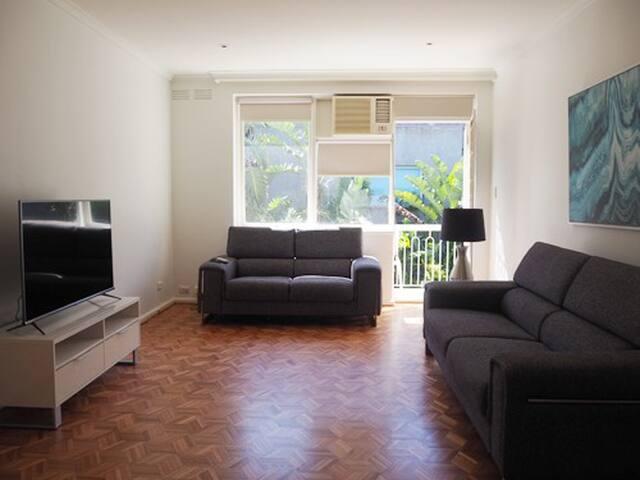 Spacious 2 Bedroom Apartment - Balcony & Parking
