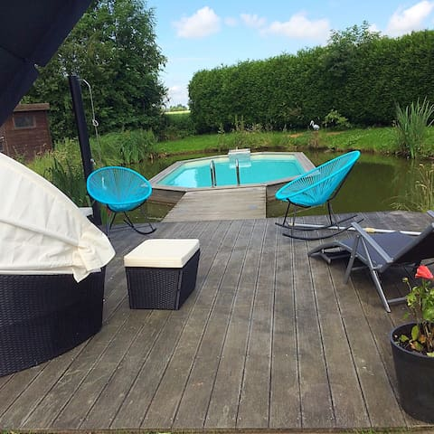 G te dans une ferme et piscine h user zur miete in for Piscine weppes