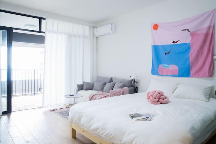 【SeaYoo】R4 保利粉系 巨幕投影 无边海景公寓