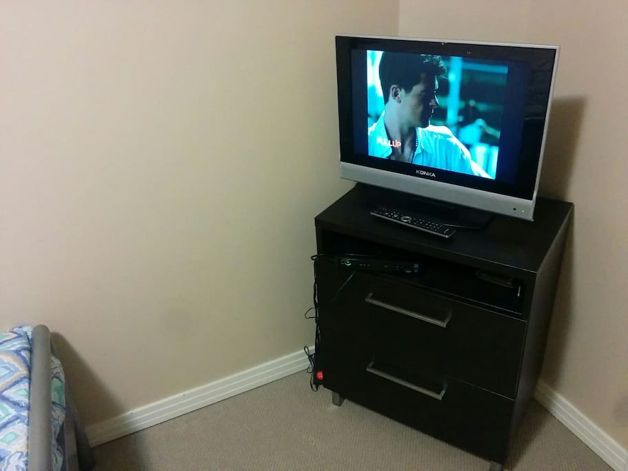 TV in the comfort of your room