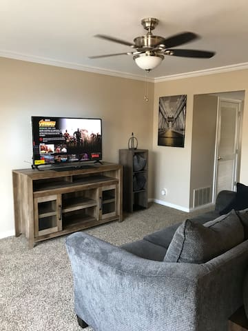 60 inch tv, with Netflix & WiFi included. Watch your favorite YouTube videos or connect your smart devices to the internet!