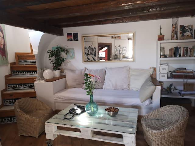 Habitación en ático.