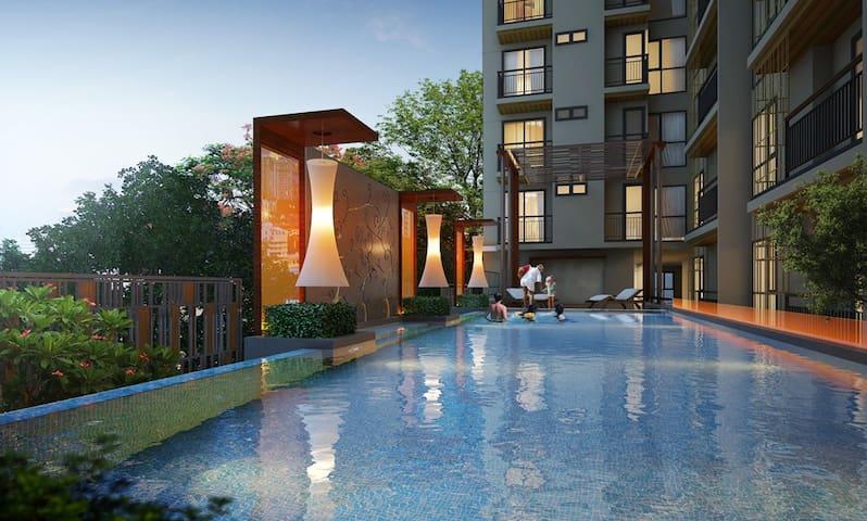 Modern 1 Bredroom, Heart of Town - Bangkok - Apartament
