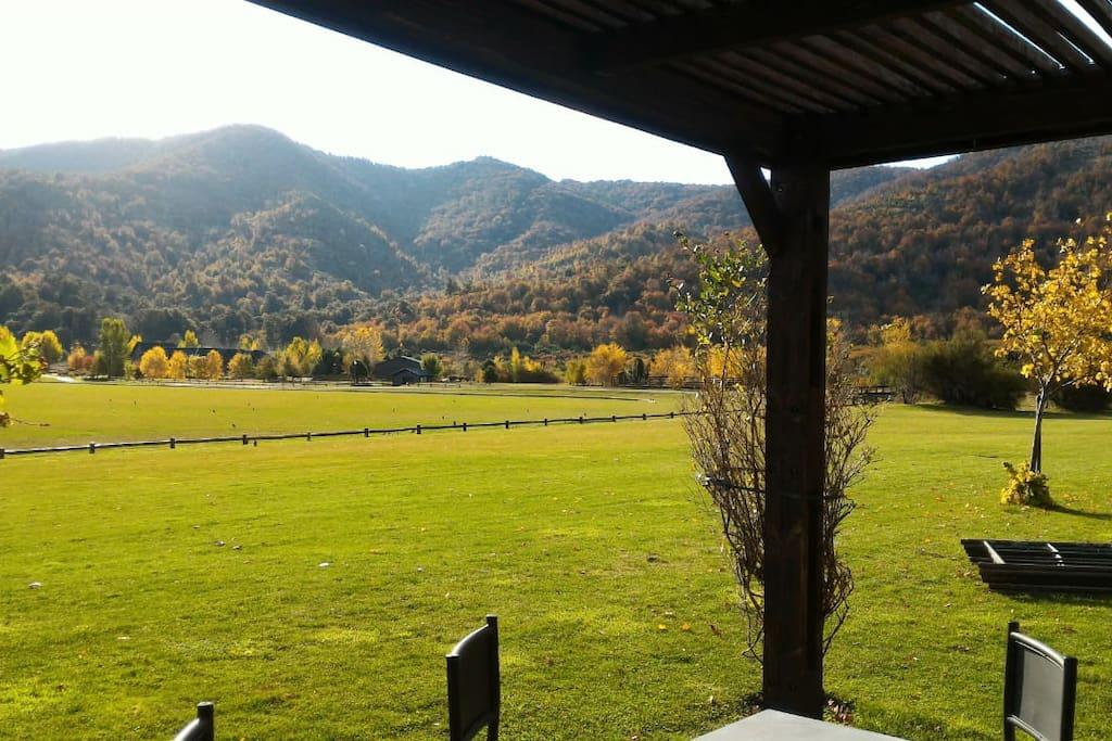 Vista del Club House de Arelauquen