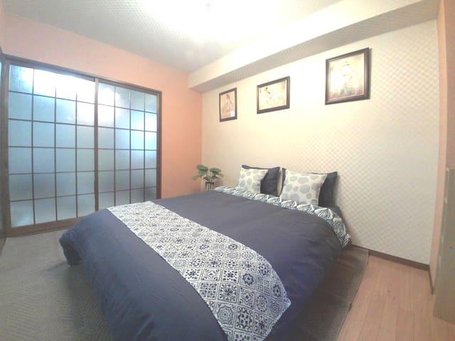 4min JR imamiya waik namba 4gest~ ¥5500 freeWifi - Nishinari-ku, Ōsaka-shi - Lägenhet