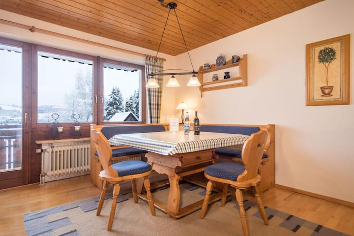 """Cosy Vacation Apartment """"Bergblick"""" with Great View, Two Balconies & Wi-Fi; Parking Available"""