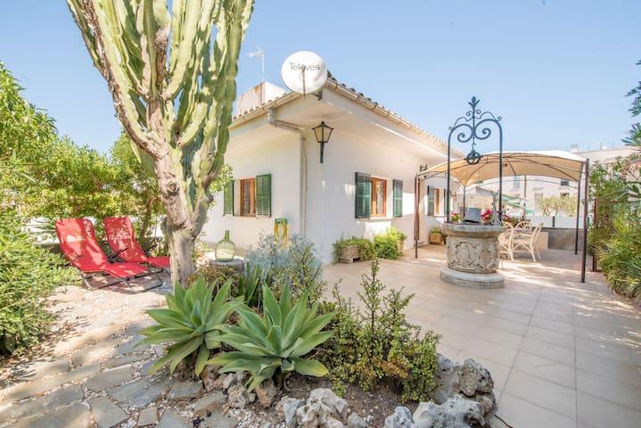 Casa de playa con terraza: Casa el Cactus