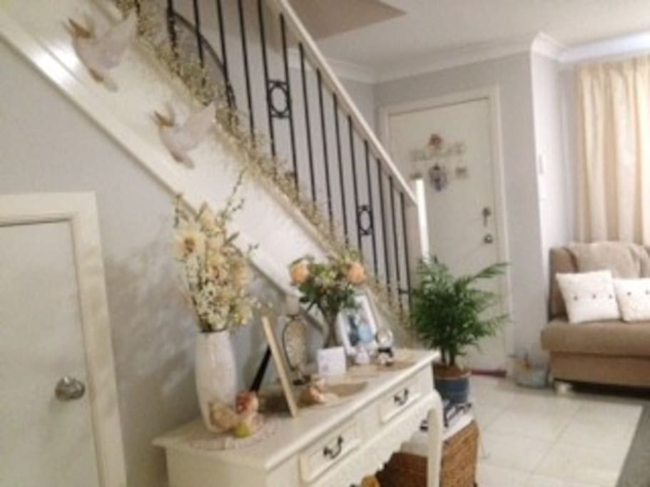 Entrance door & stairs.