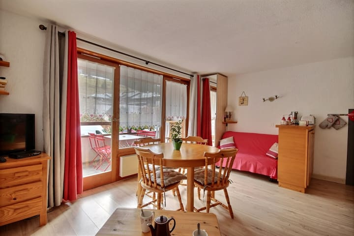 FLAT WITH SWIMMING POOL_WIFI -SAINT JEAN D'AULPS STATION- 4 PEOPLE -DAILLE 21