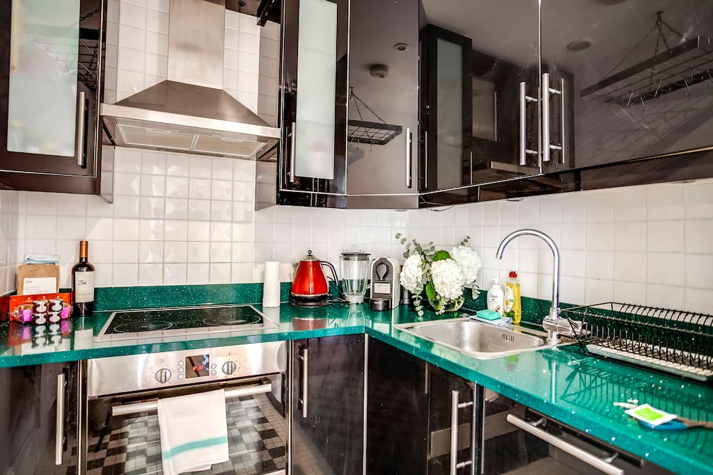 You'll have everything you need; a sleek and modern kitchen...