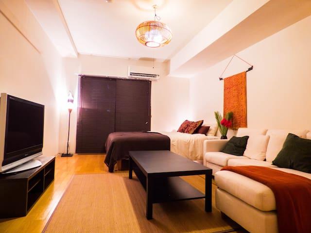 S/(松) 4min Kyoto sta & free wifi cozy room