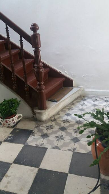 The stairs inside