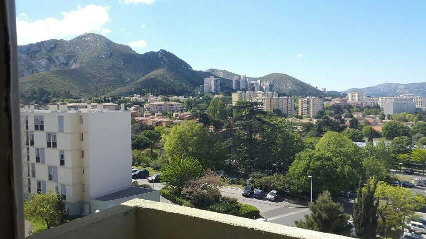 Chambre privée dans T3 de 60m² - Marseille - Wohnung