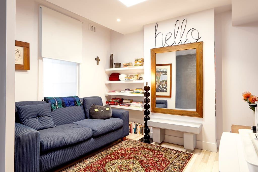 Your lounge room is completely private. We lock the front half of the house off when we have guests.