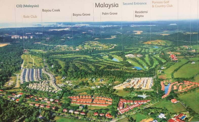 马来西亚丽舍庄园-支付单房价格D室享受整座豪华顶级百优双拼别墅休闲旅游度假(霞客)
