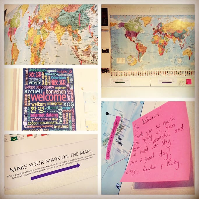 Make your mark on the world map - a global footprint, all in one room!