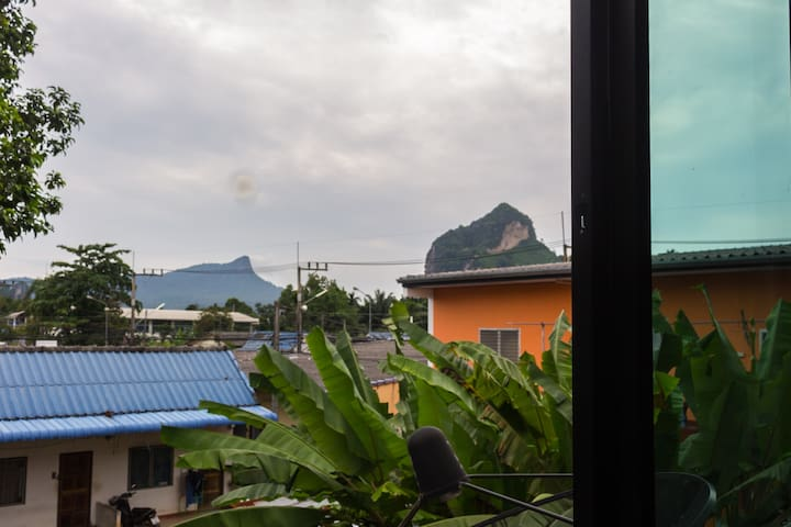 The view from window in the first bedroom. You can see main mountain, which name Naga Chrest.