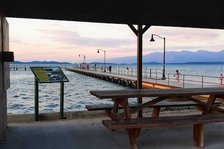 Beautiful views of Flathead Lake from every room!