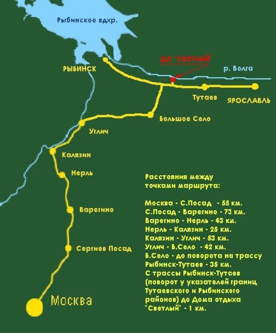 Схема проезда от Москвы