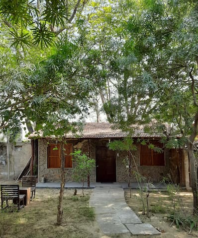 Stay with us in our rustic cottages, in the lap of nature.