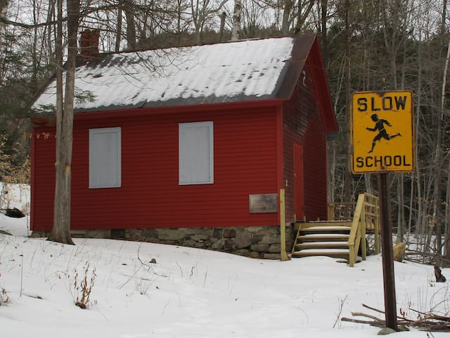 Adirondack wilderness schoolhouse / bunkhouse
