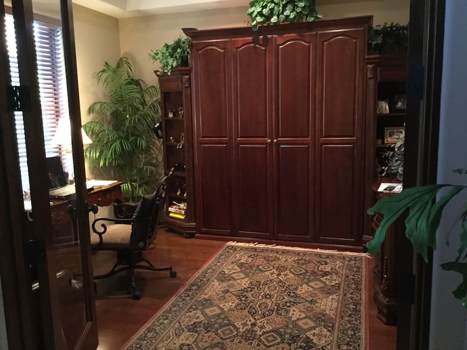 Office with Queen size Murphy bed