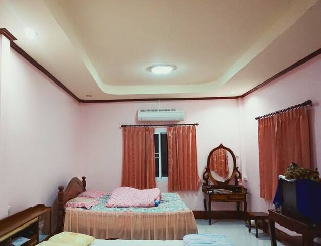 Bed room number 3 - simple comfy big zone  Facility : King size bed with air conditioner