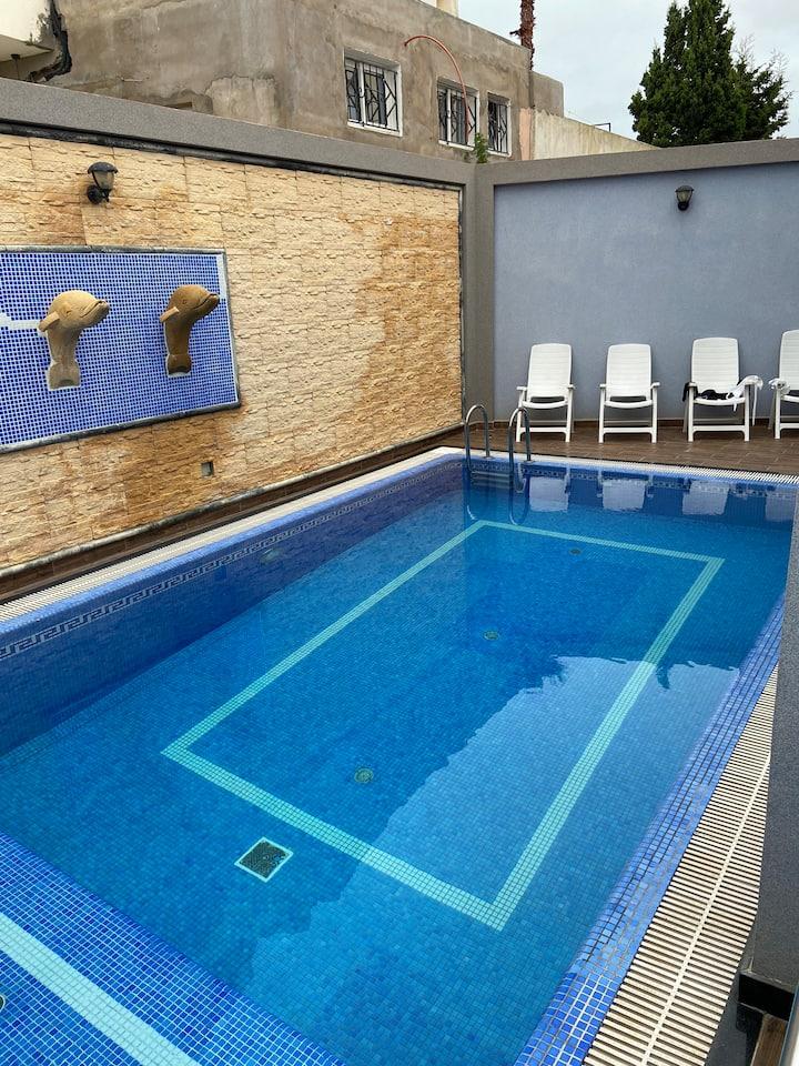 Étage villa avec piscine privée